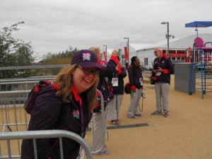 Laura Broughton volunteering at London 2012