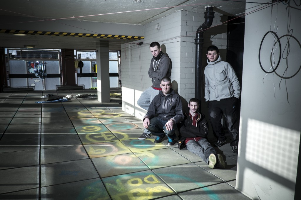 Young people in Glasgow transformed a disused space (photo: Prince's Trust)