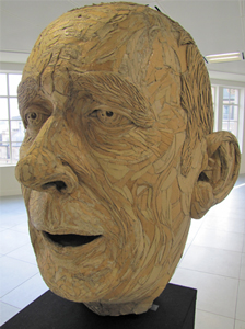 Head of David Rushbrook, James Lake's sculpture of the baritone