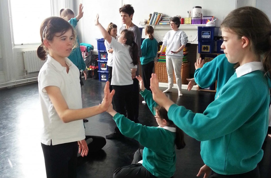Globe Education runs theatre workshops at Godsen House school
