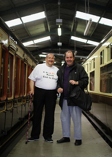 Kevin Preen and Michael Edwards embark on their campaign to raise awareness about travel and learning disability