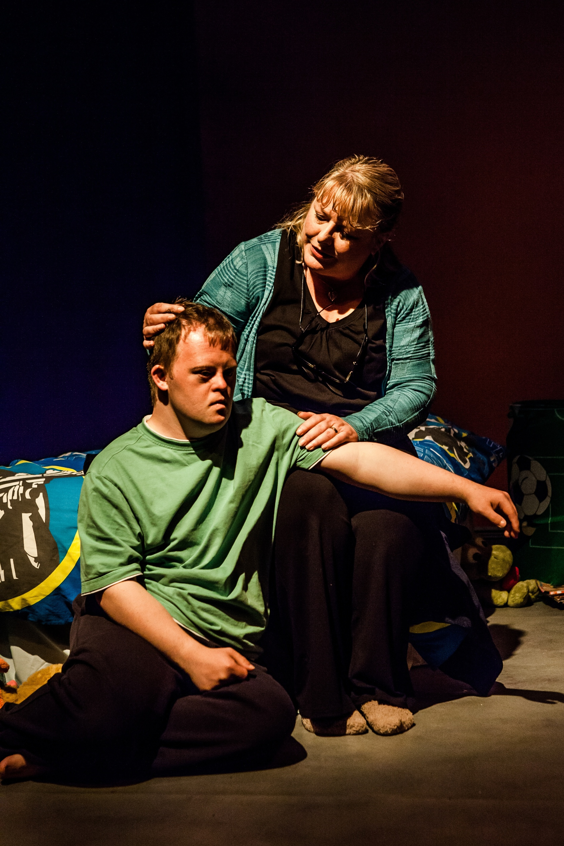 Nathan Bessell and Heather Williams in Up Down Boy (photo: Richard Davenport)