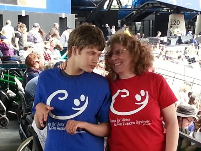 Christoper and Sue in July this year at the Olympics anniversary games