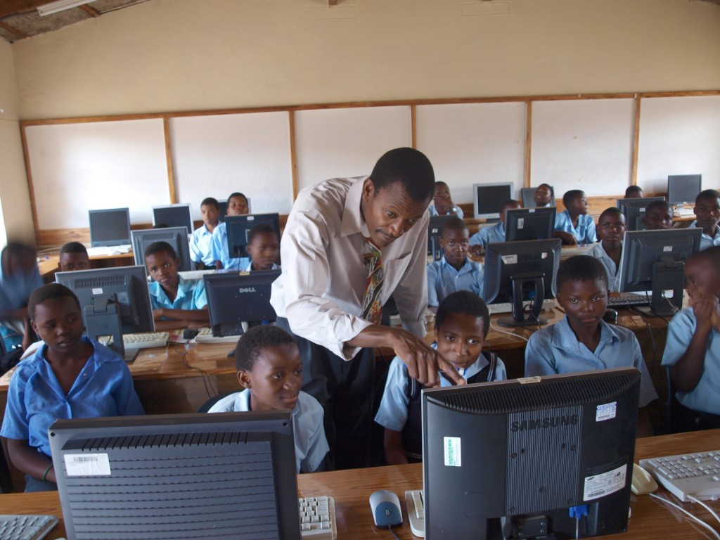 Schools in Africa benefit from the UK's revamped computers (pic: IT Schools Africa)