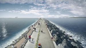 Swansea Bay tidal lagoon, using tidal power to generate renewable electricity