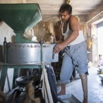 Bhagarath in the flour mill.
