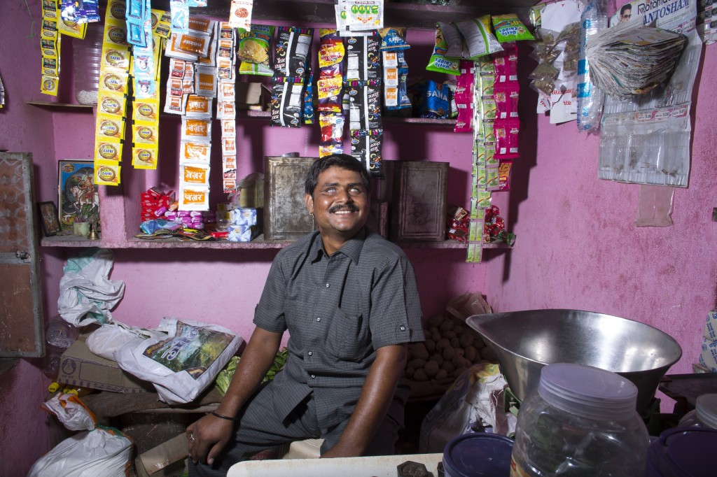 Shankarlal in his shop.