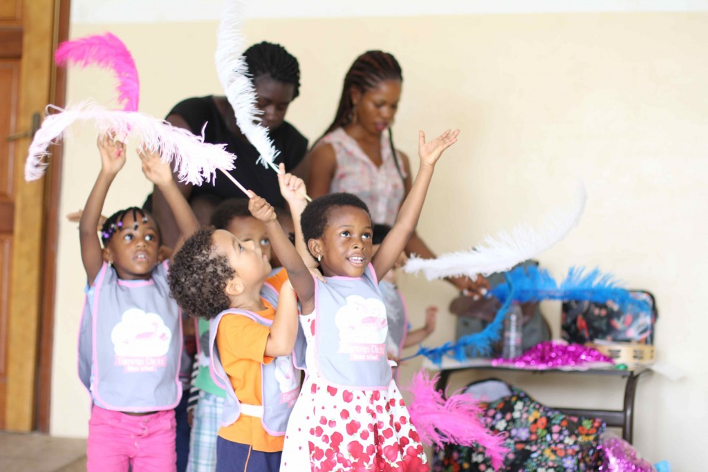 UK-based Flamingo Chicks dance school ran pilot sessions in Ghana earlier this month (photo: Flamingo Chicks)