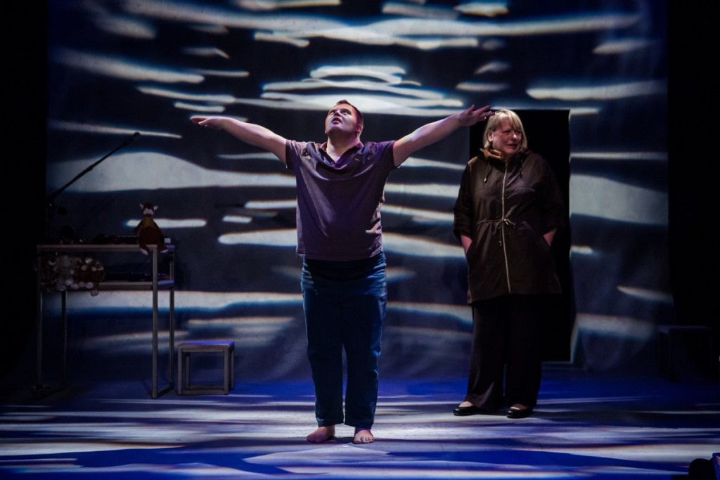 Nathan Bessell and Heather Williams in Up Down Man. Pic: Richard Davenport