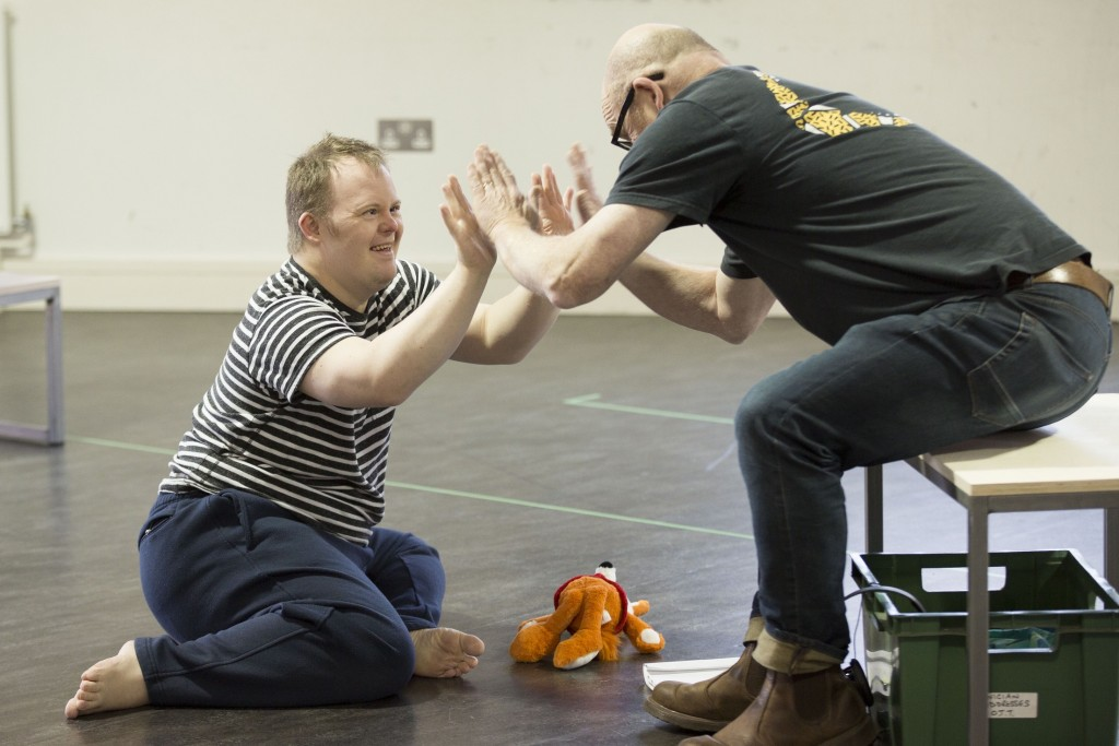 Nathan Bessell and Vic Llewellyn in rehearsals for Up Down Man. Pic: Laura Jane Dale