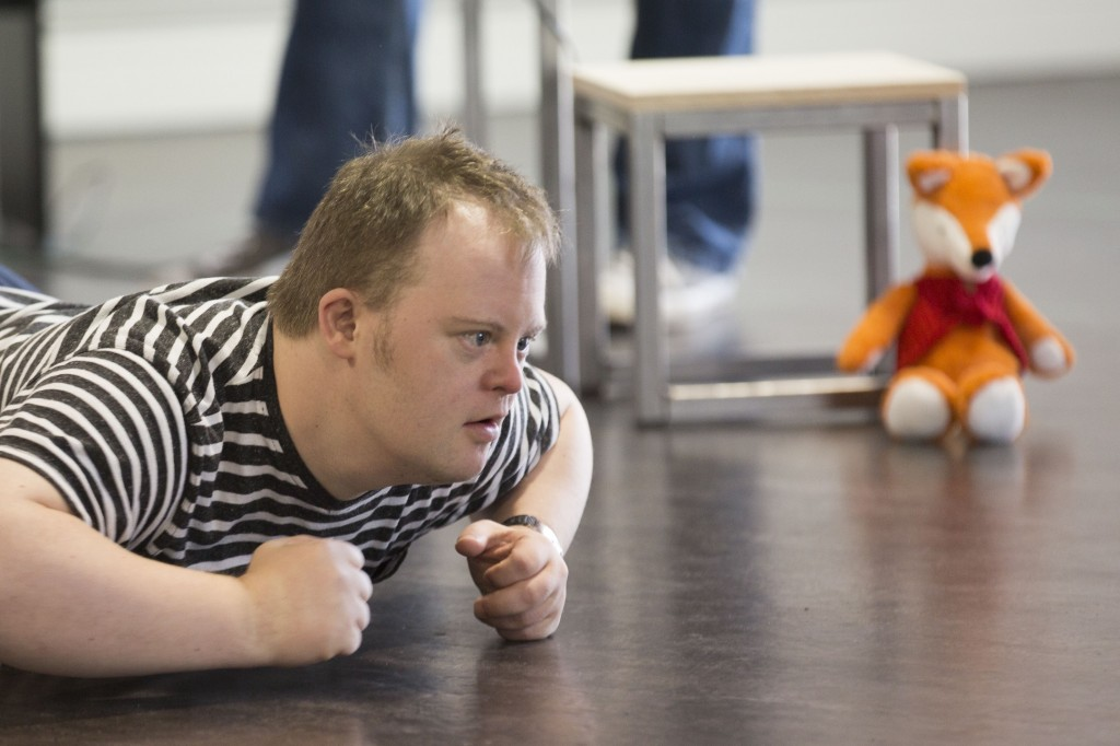 Nathan Bessell rehearsing for Up Down Man at the Salisbury Playhouse. Pic: Laura Jane Dale