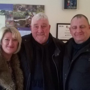 Reformed hardman Chris  (centre) with Lol and his partner Clair at the Ley centre