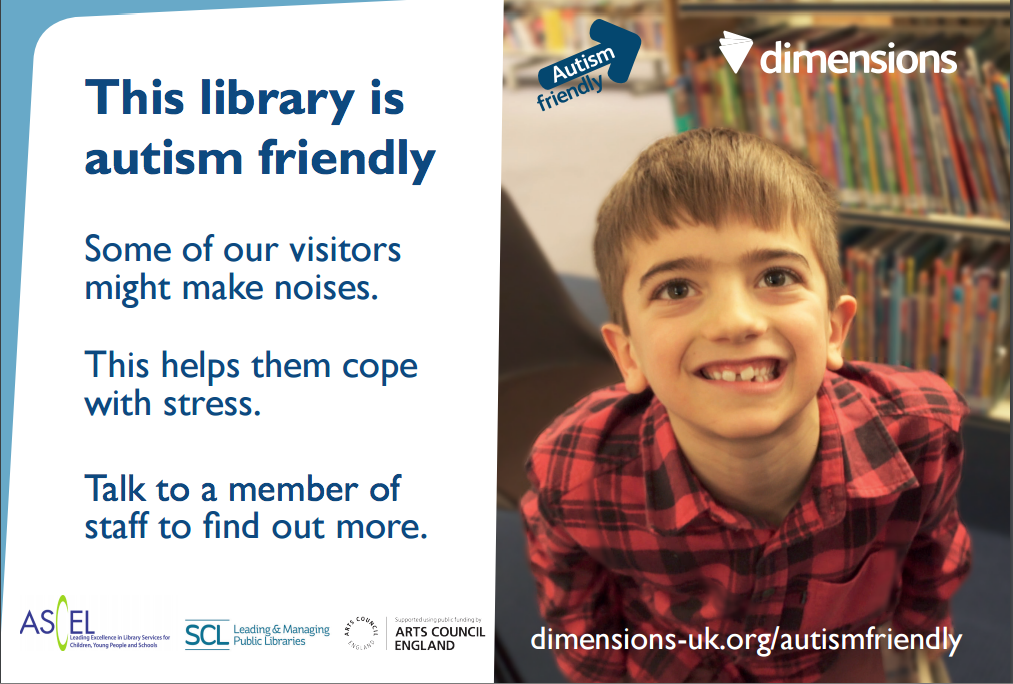 A poster available as part of the autism-friendly libraries campaign